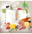 cookbook with food vector image