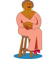 woman sitting chair vector image