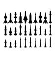 set of rocket weapons vector image