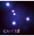 cancer zodiac sign of the beautiful bright stars vector image vector image