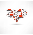 pattern heart electronics vector image vector image