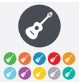 Acoustic guitar sign icon Music symbol vector image
