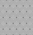 Seamless Hexagons and triangles pattern vector image vector image