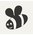Flat in black and white mobile application bee vector image