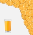 Sweet Healthy Background with Sliced of Oranges vector image