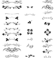 Hand Drawn set Flourishes accent text Brackets vector image