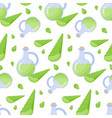 aloe vera gel seamless pattern vector image
