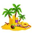 Beach Rest Background vector image