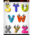 comic letters alphabet cartoon vector image