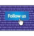 follow me vector image