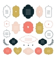 Hand drawn design elements collection Label tag vector image