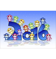 Happy New Year card with monkey vector image