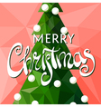 Holiday tree on the red background vector image
