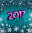 New 2017 Year on turquoise background vector image