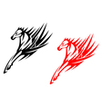 Tribal horses for tattoo design vector image
