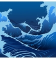 Blue Waves In The Japanese Style vector image