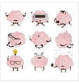 Brain Different Activities And Emotions Icon Set vector image