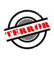 terror rubber stamp vector image