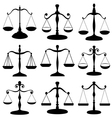 Law scale symbol set vector image vector image