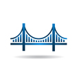 Bridge Blue Icon Logo vector image vector image
