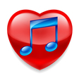 Favorite music icon vector image