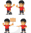 Soccer Boy Customizable Mascot 18 vector image