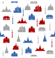 Moscow seamless pattern vector image