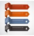 Modern arrow infographic elements vector image