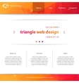 Web interface vector image