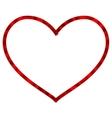 Ribbon heart isolated EPS 10 vector image