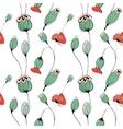 Poppy capsule seamless pattern vector image