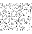 Cats seamless pattern for your design vector image