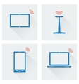 icon set gadgets with wifi vector image