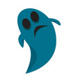 isolated blue ghost vector image