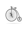 old bike in black vector image