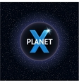 X Planet Design concept vector image