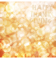 Happy Thanksgiving card design template Blur vector image