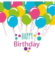 happy birthday celebration card with balloons vector image