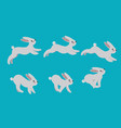 Animation cycle of running a harerabbit motion vector image