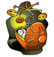 halloween lullaby vector image