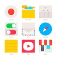 Minimal Flat Icons for mobile phones Set 3 vector image vector image