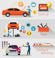 Car Check Up Repair Refinishing Banner vector image