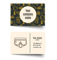 Business card for diving firms vector image