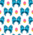 Seamless pattern cute cartoon bows-5 vector image