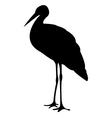 Stork Birds Silhouettes vector image