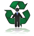 Employee recycling vector image