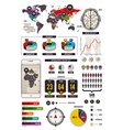 Infographics 1 vector image