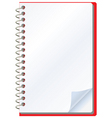 opened notepad vector image