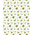 seamless pattern with mistletoe and holly with vector image