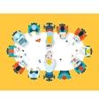 Teamwork Business brainstorming top view vector image